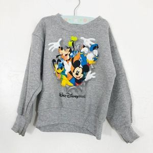 Disneyland Mickey Mouse & Friends Gray Sweatshirt